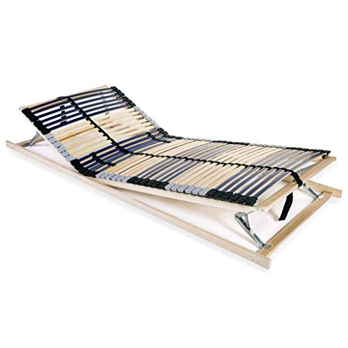 vidaXL Lattenbodem met 42 Latten 7 Zones 70x200 cm Bedden Bodem Bedbodem Bed
