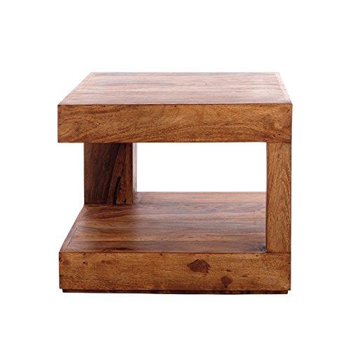 DESIGN DELIGHTS Holz COUCHTISCH Tierra | Sheesham, massiv, 45x45x40 cm | Beistelltisch, Dekotisch