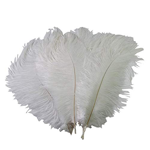 YIY 15-20cm natuurlijke gekleurde struisvogel veren kleding accessoires bruiloft partij rekwisieten pak van 100 Ostrich Feathers Kleur: wit