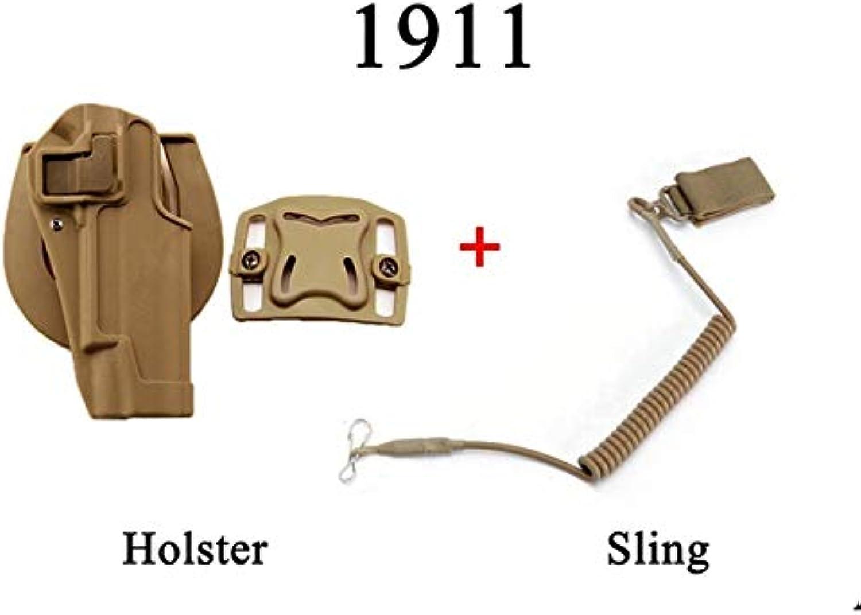 Holster 1911 Pistol Holster Accessory MOLLE Adapter Pouch Waist Holster Black Tan   9