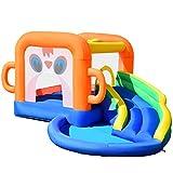 COSTWAY Castillo Hinchable con Tobogán para Niños Piscina de Juegos 3x2x2m Parque Acuático para Parque Patio Jardín Exterior Interior
