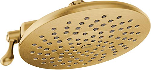 Moen S6320BG Velocity Two-Function Rainshower 8-Inch Showerhead with Immersion Technology at 2.5 GPM Flow Rate, Brushed...
