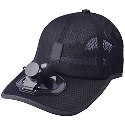 Knowooh LED baseball cap zonne-energie hoed dop, koeler ventilator honkbal cap voor outdoor sport, zonwering cap