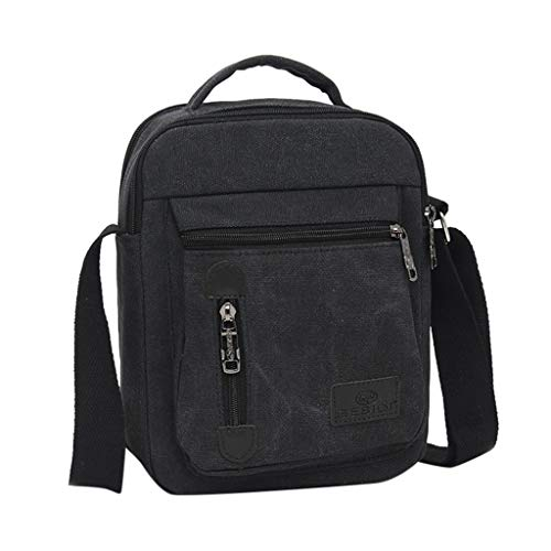 Xisimei Herrenmode Canvas Solid Color Casual Business Umhängetasche UmhäNgetasche Herrencanvas Umhängetasche Herren aus Vintagem Segeltuch Tasche Arbeiten Tasche Umhängetasche für Männer