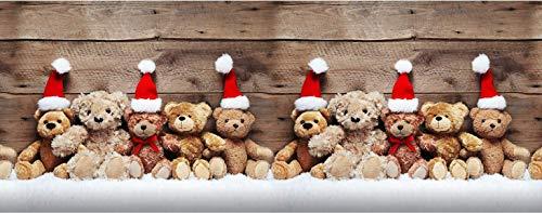 GoldenHome Tappeto Runner Corsia da Cucina Natale. Made in Italy. Antiscivolo Lavabile. Fondo in PVC. Motivi Gnomo, Orsetti, Renne. Tappeto Natale