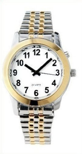 Ladies Deluxe Talking Wrist Watch Two Tone Great for The Blind or Low Vision