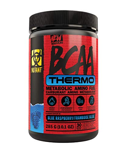 Mutant BCAA Thermo – Supplement BCAA Powder with Micronized Amino Acid and Energy Support - 285 g - Blue Raspberry