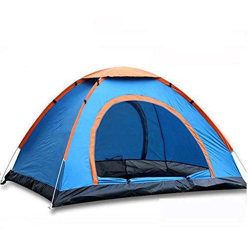 Blauwe Outdoor Camping Park Camping Automatische Tent Dubbele 3-4 Personen Automatisch weggooien Ronde Tent Strand Hand Gooien Tent Outdoor Uitrusting Zwembed