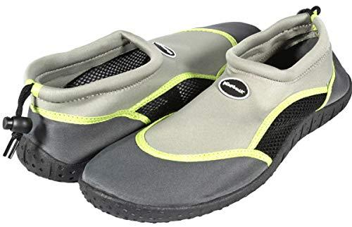 Ultrapower Męskie buty na basen, buty plażowe, buty do wody, antypoślizgowe, buty do pływania męskie, buty do sportów wodnych, buty plażowe, neoprenowe siateczki, AS1, rozm. 42, szare