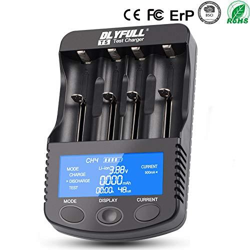 Batterie ladegerät, Akku Batterieladegerät USB Universal Ladestation LCD-Display für Li-Ion IMR NI-MH NI-Cd AAAA AAA AA Batterien Akku