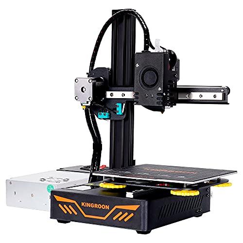 Impresora 3D, Extrusora de Titanio de Primera Calidad, Rieles de Guía Lineales Dobles de Aluminio y Ventiladores de Refrigeración Dobles, Espacio de Impresión de Fácil Montaje 180x180x180mm