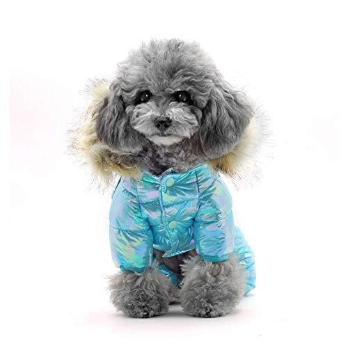 Abrigo de invierno para mascotas, disfraz de Navidad, ropa de perro cálida para invierno, piel gruesa, chaqueta para cachorros, impermeable, para perros pequeños, medianos y grandes
