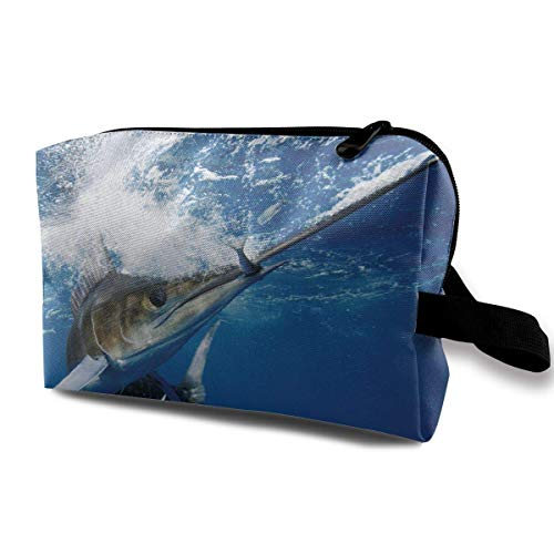 Marlin Fish Swordfish Makeup Bag Travel Receive Bag Cosmetic Bag