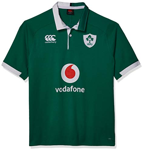 Canterbury of New Zealand Men's Ireland 19/20 Vapodri Home Sleeve Classic Rugby Jersey, Bosphorous, X-Small