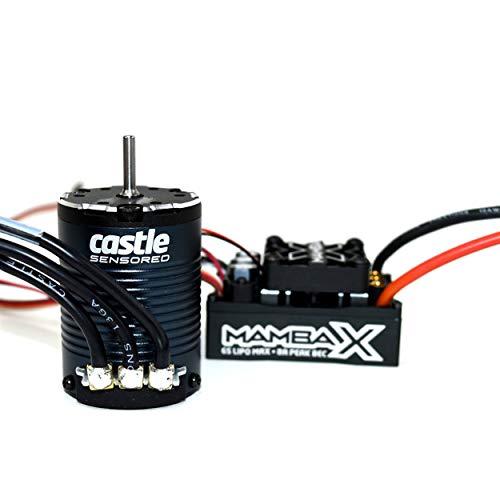 Castle Creations CSE010-0155-09 Mamba X 25.2V Waterproof ESC and 1406-2200kV Sensored Motor Combo