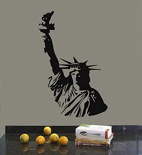 Estatua de la libertad edificio emblemático de Nueva York símbolo de la libertad vinilo pegatina de pared calcomanía dormitorio sala de estar oficina estudio decoración del hogar Mural