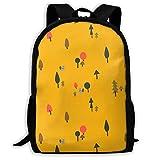 Bugkhd mochila de viaje ligera de 17 pulgadas con diseño de ardilla en el bosque es una versión japonesa y coreana, resistente al agua