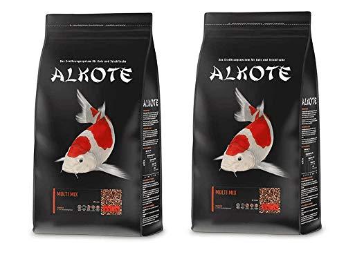 AL-KO-TE Multi Mix 6 mm | 2X 9kg Vorteilspackung Koifutter | Teichfische mit Alkote Koifutter füttern