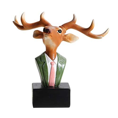 Garneck Gafas Expositor Soporte Ciervos Escultura Estilo Animal Adornos de Escritorio Expositor Hogar Oficina Tienda Decoración