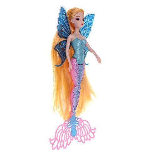 MagiDeal Moda 30 Cm Princesa Clásica Sirena Muñeca Modelo De Niña Muñeca De Juguete Decoración para El Hogar # 1 - #3