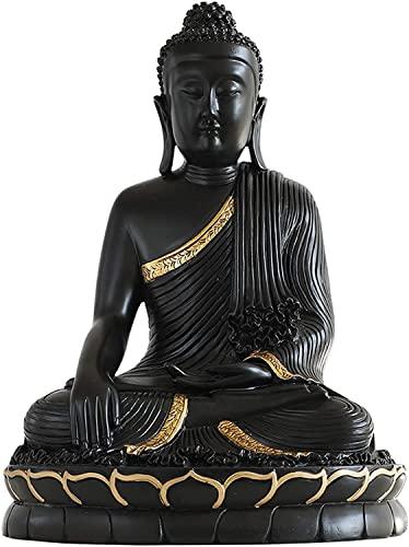 WQQLQX Statue Shakyamuni Skulptur Menschen Buddha Statuen for Figuren Ornamente Buddha sitzen in der Meditation Buddhismus Bodhisattva Dekoration Skulpturen