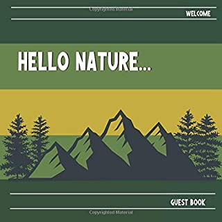 Cabin Guest Book: Logbook For Guests Comments and Messages | Mountain – Rural - Outdoors