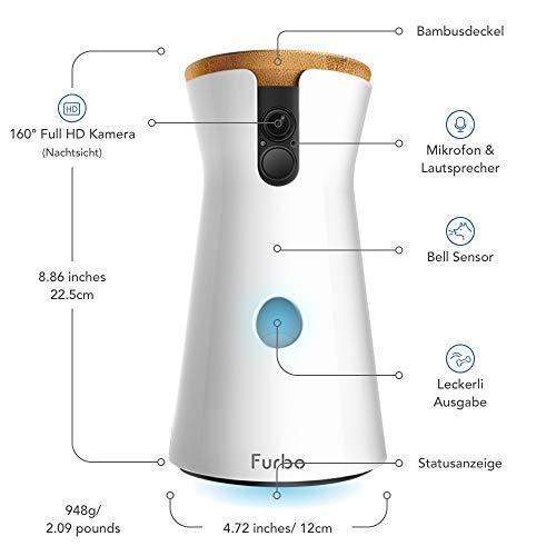 Furbo Hundekamera: Full-HD-Wifi-Haustierkamera mit 2-Wege-Audio, Leckerli-Ausgabe und Bell-Alarm (bekannt aus VOX hundkatzemaus) - 2