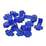 Terminal de crimpado Azul 0,75-2.5mm Terminales de engarce Conectores de cable eléctrico rápido rápido de bloqueo de empalme Terminales de alambre Crimp Mano de obra fina y duradera ( Pins : 10Pcs )