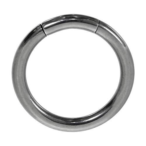 bodypiercing Piercing de aro de acero quirúrgico 316L, 2,0 x 12 mm