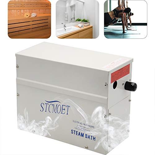 Hanchen 3KW Generador de Vapor para Sauna/Baño Turco/Ducha Dentro de 3m³ 220V Temperatura Ajustable 35-55℃ Control de Tiempo 1-60min CE