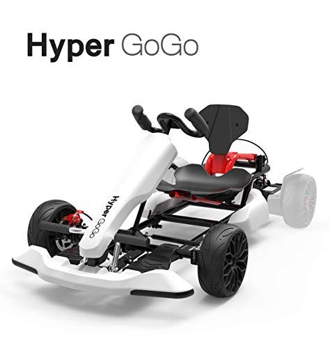 HYPER GOGO GoKart Kit - Hoverboard Attachment - Compatible with All Hover Boards,White