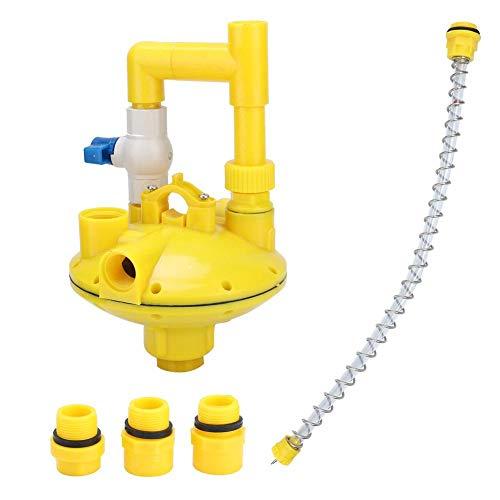 Yosoo Reducing Valve, Water Pressure Regulator Regulating Reducing Valve for Drinker, Farm Accessories Professional Chicken House Drinking Poultry Water Equipment (Round Tube)