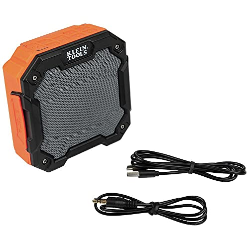 Klein Tools AEPJS3 Magnet and Hook Mount Bluetooth 4.2 Cordless Portable Speaker and...
