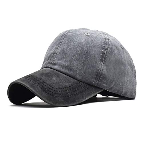 Washed cotton solid color light weight men's baseball cap, multi color optional bone cap, stitching dad cap-style 3-Adjustable