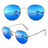 CGID E47 Pequeño Estilo Vintage Retro Lennon inspirado círculo metálico redondo gafas de sol polarizadas...