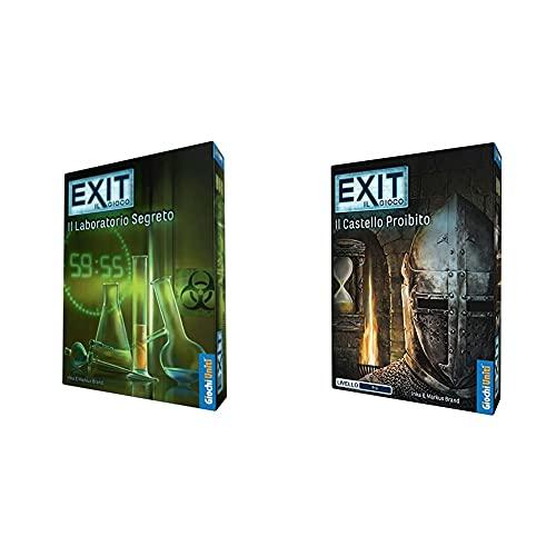 Giochi Uniti Gioco Exit Il Laboratorio Segreto, Gu563 & Exit: Il Castello Proibito, Gioco Da Tavolo, Multicolore, Gu619