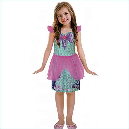 Savahe Kinder Karneval Fasching Meerjungfrau Nixe Kostüm / Kleid Mädchen