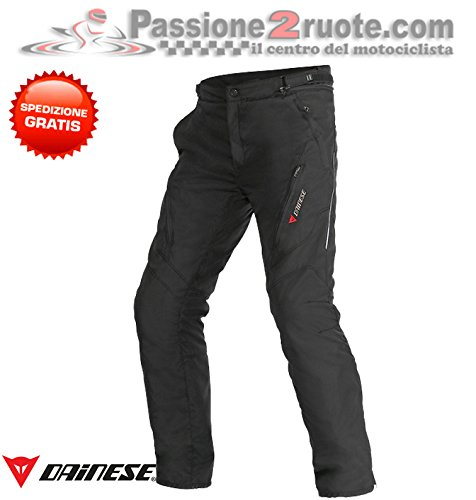 Dainese Pantalones Tempest D-Dry Lady 40 mm, Color Negro
