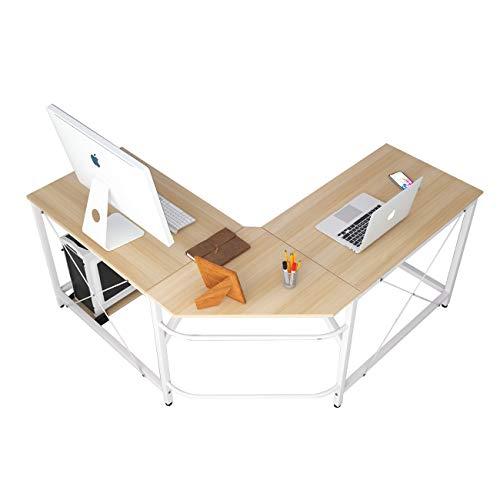soges Eckschreibtisch Computertisch Gaming Tisch Mit L-Form Winkelschreibtisch großer Gaming Schreibtisch Bürotisch Ecktisch Arbeitstisch PC Laptop Studie Tisch, 150 cm + 150 cm,LD-Z01-MO