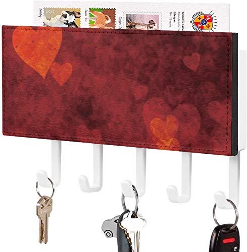 Gancho para llaves montado en la pared, clasificador de correo, organizador para llaves de correo de montaje en pared, abeja reina, las abejas en anillos de colores, decoración del hogar para la entr