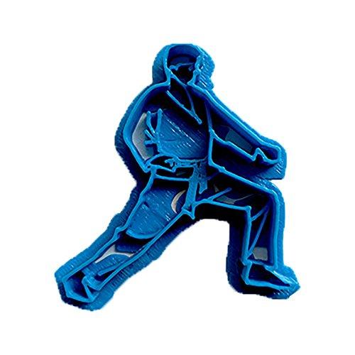 Cuticuter Deporte Karate 3 Cortador de Galletas, Azul, 8x7x1.5 cm