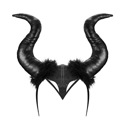 Fyeep Halloween kostuum dames hoorns, maleficent kostuum, gothik hoed party hoed Halloween Cosplay, maleficent hoed hoorns boze koningin custume Cosplay hoofddeksels