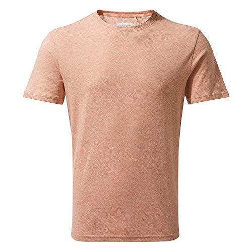 Craghoppers Bernard T-Shirt à Manches Courtes pour Homme L Rayures Ocre Rouge.