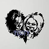 Juego De Niños Chucky Wall Decal Good Guy Vinyl Sticker Horror Decor Art Mura75X84Cm