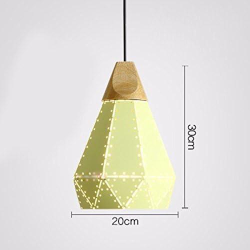 ZY  Suspension Lampe Lustre Restaurant Lumière Simple Diahommet Fer Art Single Head Jaune 20  30Cm