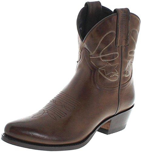 Mayura Boots Damen Cowboy Stiefel 2374 Alcatrao Lederstiefelette Lederschuhe Braun 41 EU