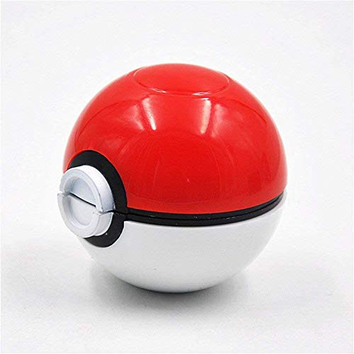 Pokeball Herbal Grinder- Pokeball Herb and Spice Tool with Bonus Scraper-Perfect Gift, Anime Gift-3 Part Grinder, 2.2 inches (red)