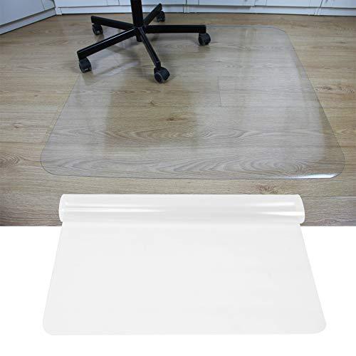 AYNEFY Protector de suelo transparente para silla, rectangular, antideslizante, PVC, protector de suelo para silla de oficina, 119,5 x 90 cm