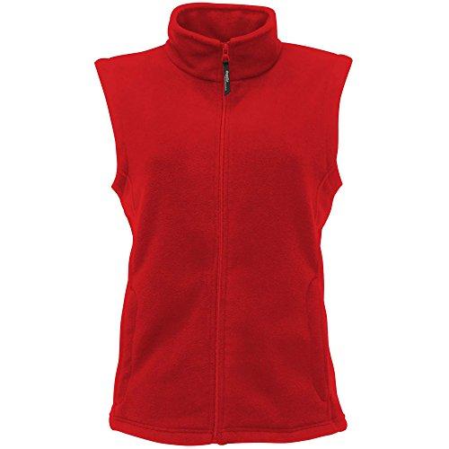 Regatta Calentador de cuerpo micro polar para mujer, Mujer, Calentador corporal, Rg186/Tra802, Rojo clásico., 48