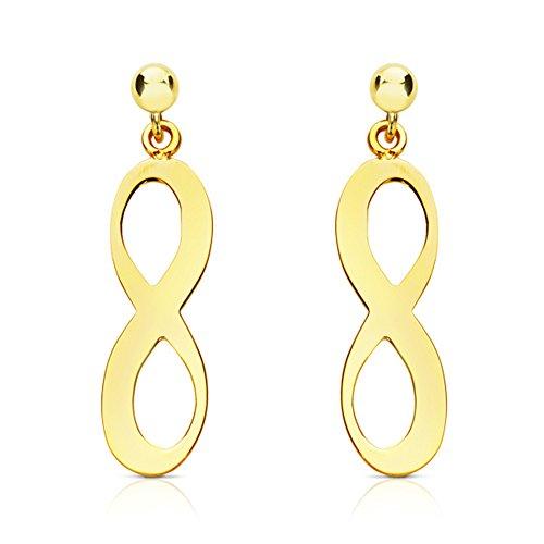 Pendientes Infinity (Pendientes Infinito) oro...